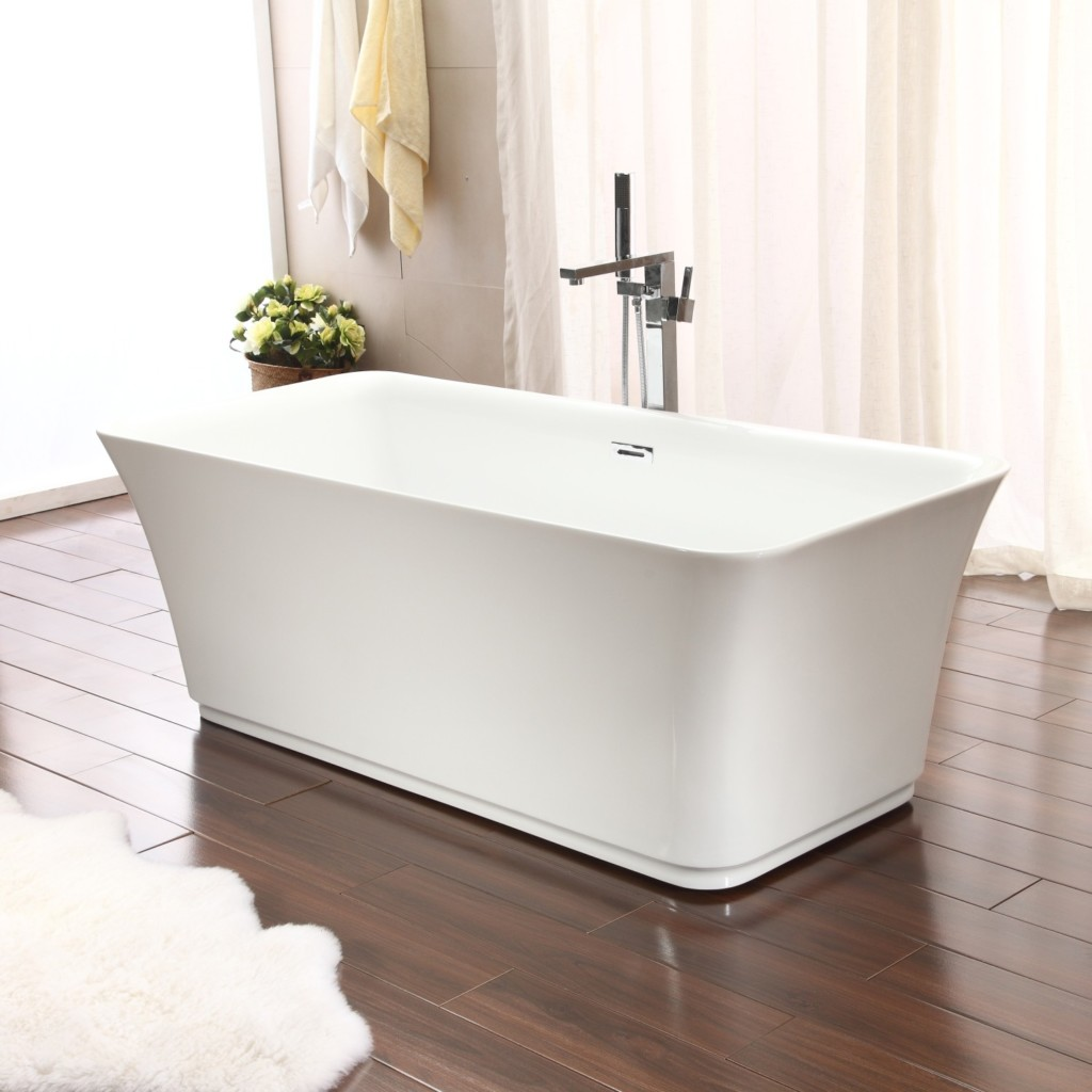 bottom the drain bathtub schon aiden in reversible white flat home bathtubs bath n tub b freestanding depot chrome